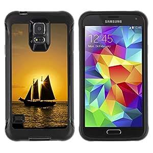 Suave TPU GEL Carcasa Funda Silicona Blando Estuche Caso de protección (para) Samsung Galaxy S5 V / CECELL Phone case / / Sunset Ship Beautiful Nature 10 /