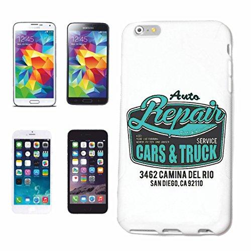 """cas de téléphone iPhone 6+ Plus """"AUTO REPARATION CARS & MÉCANICIEN TRUCK Autowerkstatt MOBILE MECHATRONIC SAN DIEGO HOT ROD CAR NOUS Mucle CAR V8 ROUTE 66 USA AMÉRIQUE"""" Hard Case Cover Téléphone Cover"""