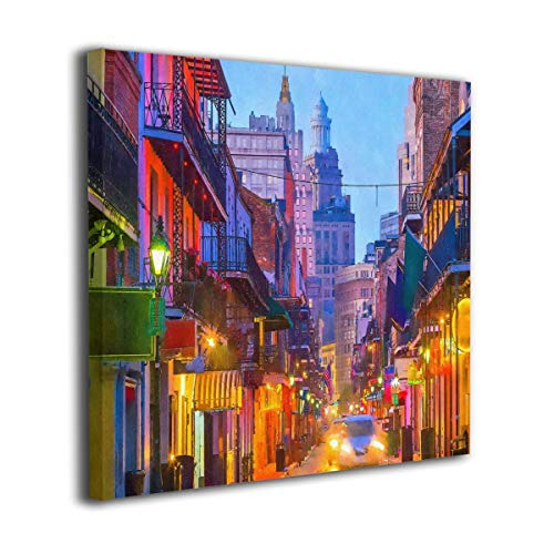 French Quarter New Orleans Louisiana USA Oil Paintings On Canvas Modern Square Stretched and Framed Artwork Ready to Hang Wall Art for Home Office Wall Decor 20