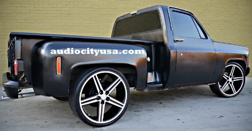 24 Iroc Black Wheels Tires Pkg Fits On 5 And 6 Lug Chevy Truck