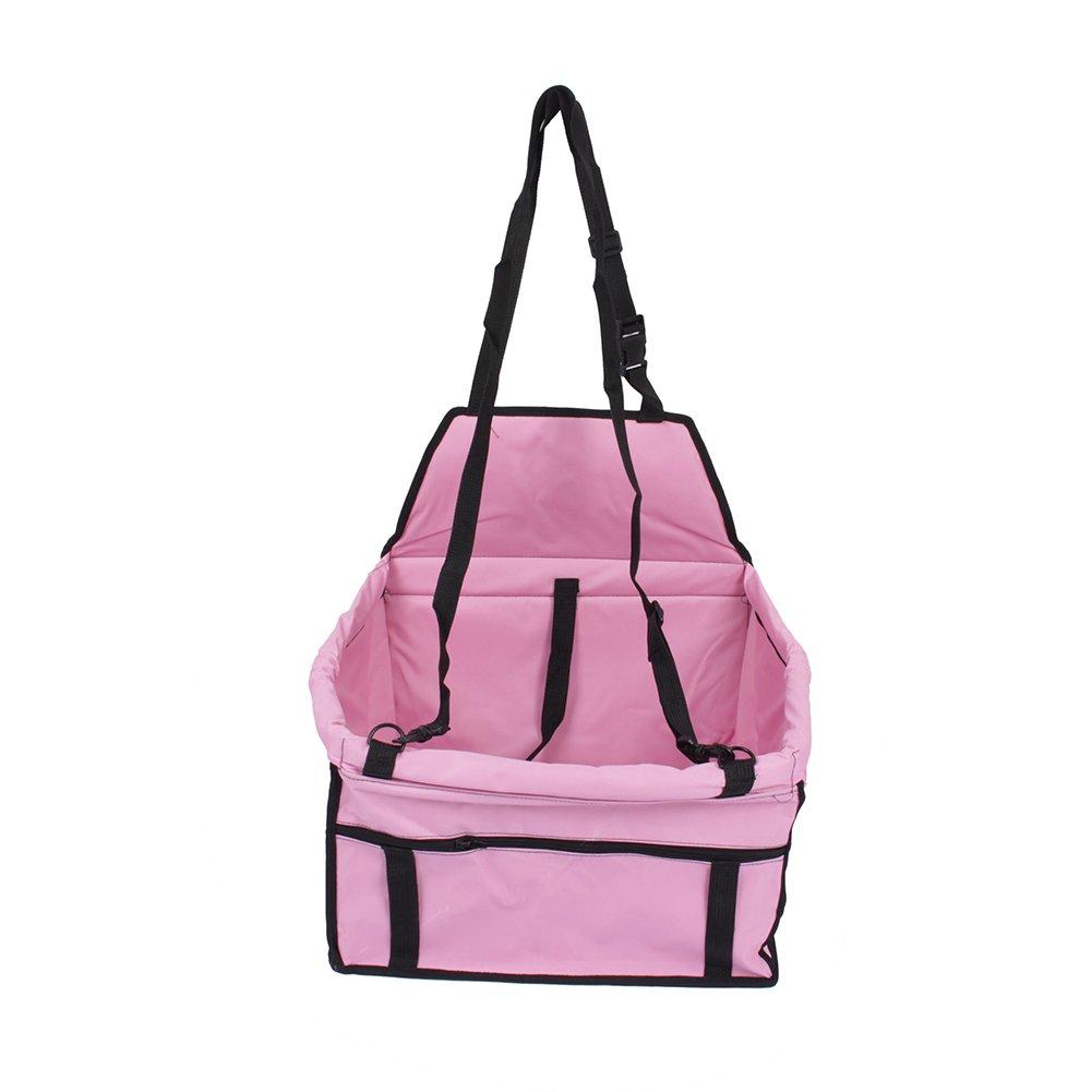 GOTOTOP Pet Seat Bag, Folding Waterproof Pet Dog Cat Car Seat Carrier Dog Cat Puppy Safe Travel Carrier Handbag Car Pet Cage Booster (Black)
