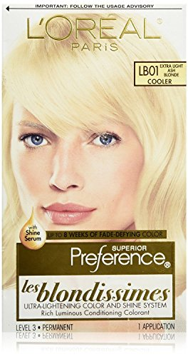 Pref Exlit Ash Bld Lb-01 Size Ea L'Oreal Preference Les Blondissimes Hair Color Extra Light Ash Blonde #Lb01