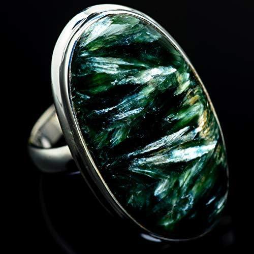 Seraphinite セラフィナイトシルバー925リング9.5