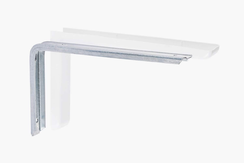 /gedotec/® Estanter/ía Estanter/ía de consola Soporte Modelo LEON de metal marca de calidad para tu sal/ón Consola de pared con tapas para Color Blanco 2/pieza/
