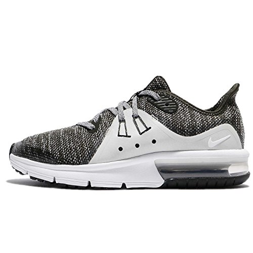(Nike Air Max Sequent 3 GS Running Trainers 922884 Sneakers Shoes (UK 4 US 4.5Y EU 36.5, Sequoia Light Bone 300))