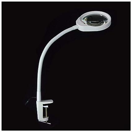 YN-Lupa Lente de sobremesa de Clip con lámpara de Mesa de Trabajo de reparación