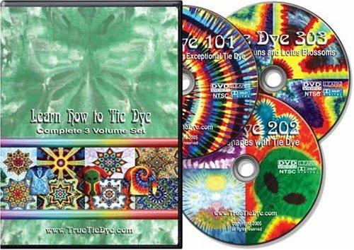 ''Learn How to Tie Dye'' complete 3-volume set by TrueTieDye.com