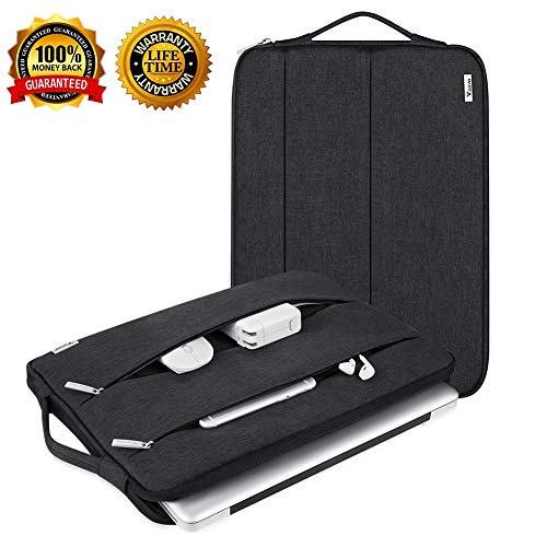 (Laptop Sleeve Slim Laptop Case 12.9 13.3 13.5 13 Inch Laptop Sleeve Compatible Mac Surface HP Dell Lenovo Acer Asus Chromebook Case Sleeve MacBook Air Pro Universal Waterproof with Handle Vertical)