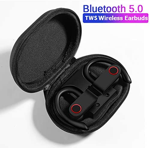 COOLOUS A9 Bluetooth Headphones Wireless Sport Earphones with Wireless Charging Case TWS Stereo Wireless Earbud Built-in Mic Bluetooth 5.0 IPX7 Waterproof