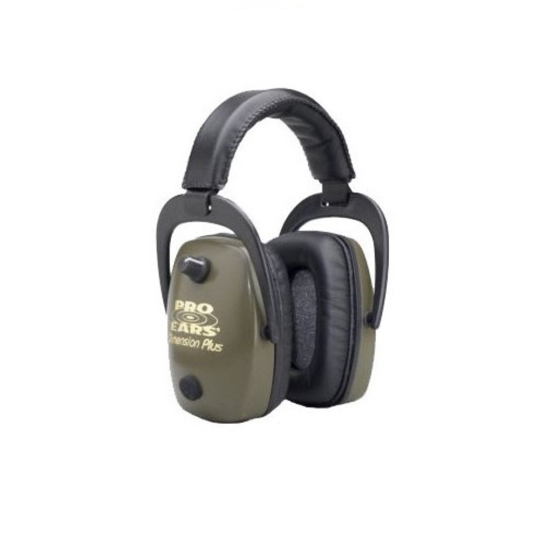 Pro Ears - Pro Slim Gold - Electronic Hearing Protection and Amplification -  NRR 28 - Ear Muffs - Green