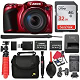 Canon PowerShot SX420 IS Digital Camera (Red) 42x Optical Zoom + 32GB SD + Spare Battery + Complete Accessory Bundle
