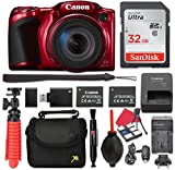 Canon PowerShot SX420 is Digital Camera (Red) 42x Optical Zoom + 32GB SD + Spare Battery + Complete Accessory Bundle Review