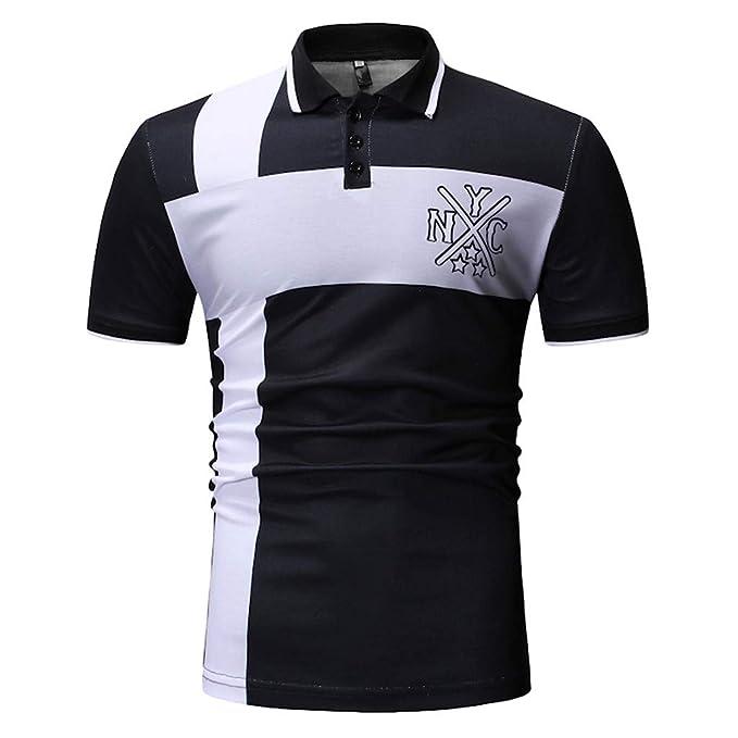 2cc8b89905 ZODOF Camisetas Hombre Verano, Ropa Deportivas Hombre, Camiseta de Manga  Corta Hombre, Verano Tops Blusa Hombre: Amazon.es: Ropa y accesorios
