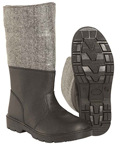 German Army Style Cold Weather Felt and Leather Winter Boots