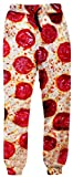 Apparel - Unideazone juniors Sport Pants Funny 3D Digital Printed Pizza Sweatpants Medium Orange 4 Medium