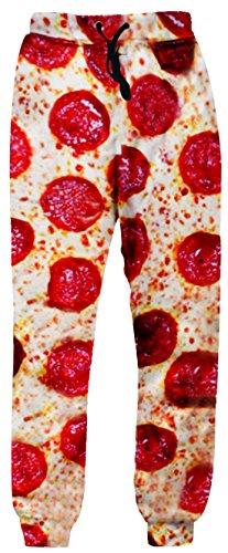 Unideazone Unisex Sport Pants Funny 3D Digital Printed Pizza Sweatpants Medium Orange 4 Medium