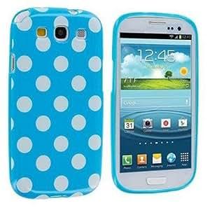 Blue Cute Polka Dots Soft TPU Back Case Cover Skin For Samsung Galaxy S3 III i9300