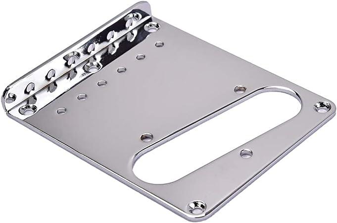 or accessoires de pi/èces de rechange pour guitare /électrique Healifty Plaque de pont de guitare Top Loader pour Fender Telecaster TL 102x89x11mm