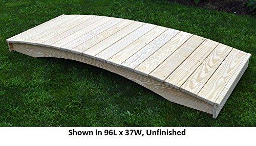 Amish-Made Weight-Bearing Pine 3' x 12' Plank Garden Bridge, Cedar Stain ()