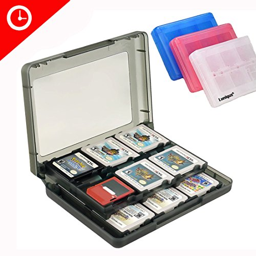Luniquz 26 in 1 Game Card Case Holder for Nintendo New 3DS / 3DS / Dsi / Dsi XL / Dsi LL/ DS / DS Lite Cartridge Box /Black