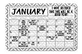 Gray Geometric Pattern Decorative Wall Calendar Planning Board - Reusable Easy Clean