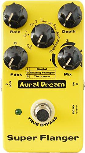 Aural Dream Super Flanger Guitar Effect Pedal with 3 modes
