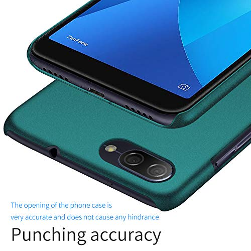 SHIWELY Ultra Thin ASUS Zenfone Max Plus ZB570TL Case, Hard Polycarbonate PC Slim Fit Silky Phone Cover Case with Matte Finish for ASUS Zenfone Max Plus ZB570TL(Gravel Matte Green)