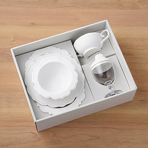Reale Series Children's dinnerware set (5 items) Made from Japanese Bamboo BIO Plastic (Pale-White)