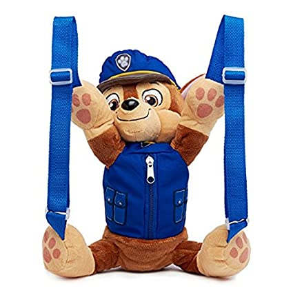 Amazon Com Paw Patrol Chase Plush Backpack Toys Games