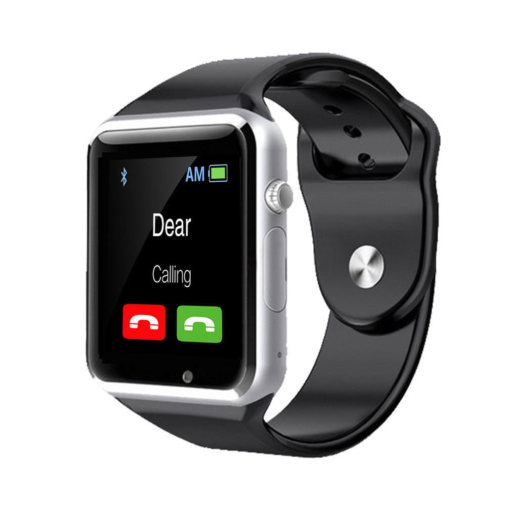 A1 Smart Wrist Watch Bluetooth Waterproof GSM Phone For Android Samsung iPhone Fashion/Smart watch (BLACK)