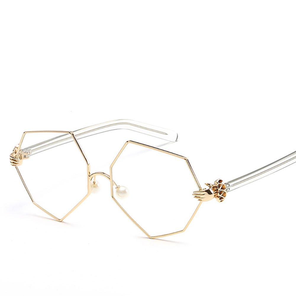 68f0b8c4a0 Amazon.com  HOBULL Sunglasses for Women Girls Polygonal Irregular Side  Sturdy Metal Frame Glasses Fashion Lens Palm  Clothing