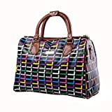 Crystalzhong Travel Duffel Hand Luggage Large-Capacity Mobile PU Leather Travel Bag  Travel Travel Leisure Bags Men and Women Travel Bags Multifunctional Bag Weekender Overnight Luggage (Size : L)