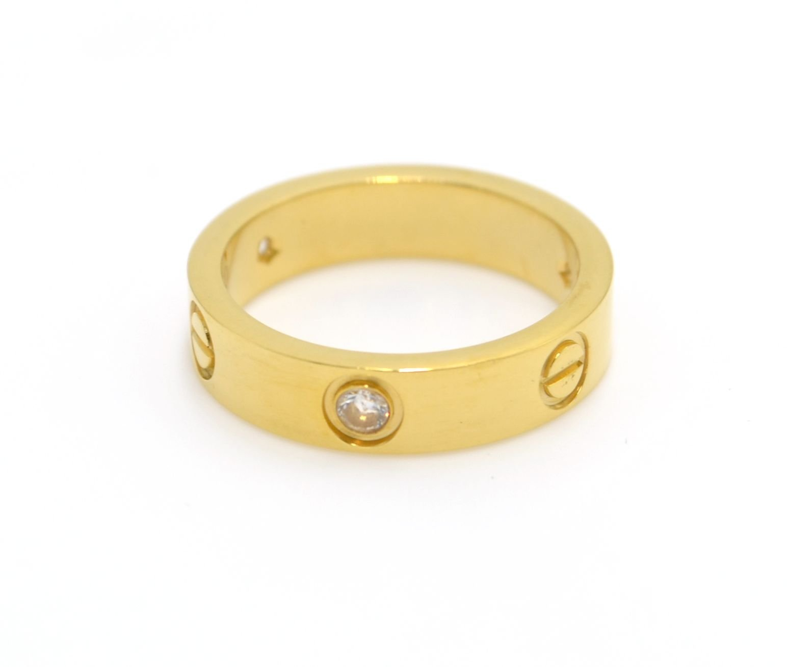 Baodeshiye Love Ring With Stone-Gold Lifetime Just Love You With(5)