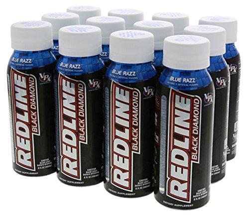 VPX Black Diamond Redline Blue Razz for Laser Focus, Clear Energy and Razor Sharp Reaction 12/8oz Bottles by VPX
