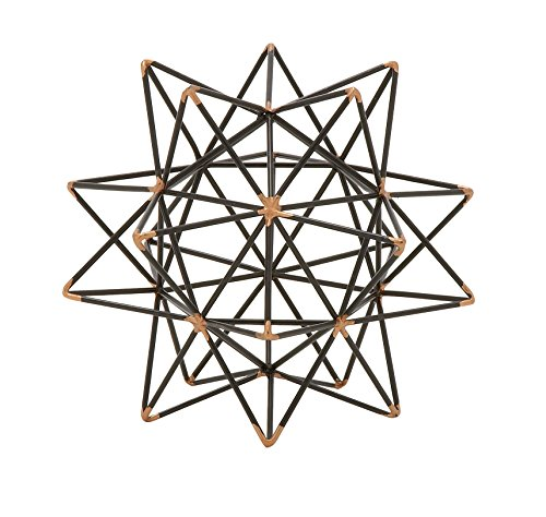 Deco 79 95243 Trendy Metal Wire Star Décor, 7″ W x 7″ H
