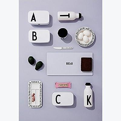 18 cm design letters Fiambrera Blanco//Negro