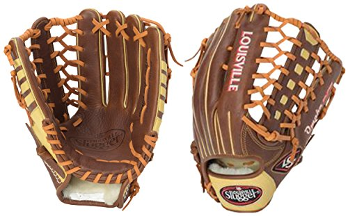 Louisville Slugger Omaha Pure Gloves, Brown, 12.75'', Right Hand Throw by Louisville Slugger