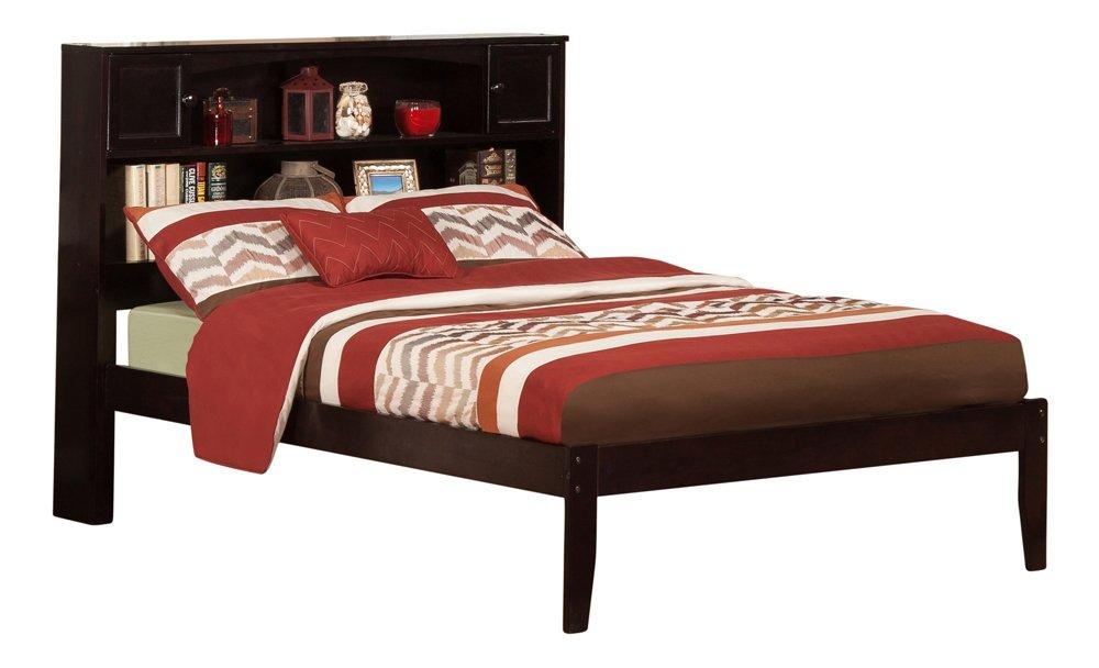 Atlantic Furniture Newport Platform Bed with Open Foot Board, Full, Espresso