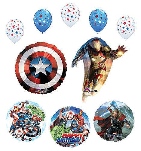 Avengers birthday Party Supplies and Balloon Bouquet Decorations