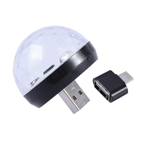 Mobestech Lámpara de Mesa Mini Luces de Discoteca USB Luz ...