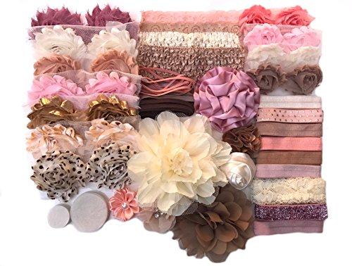 Bowtique Emilee Baby Shower Headband Kit DIY Headband Kit makes 26 Headbands - Vintage - Baby Headbands Vintage