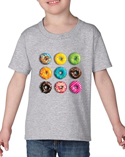(ARTIX Love Food Donuts Doughnuts Toddler Kids T-Shirt Tee Clothing 3T Sport)