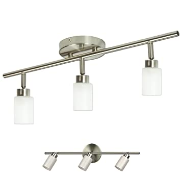track lighting fixtures for kitchen industrial brushed nickel light track lighting fixture wall or ceiling mount amazoncom