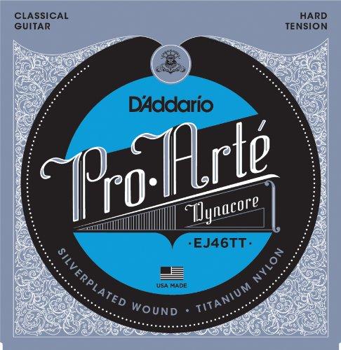 D'Addario EJ46TT ProArte DynaCore Classical Guitar Strings, Titanium Trebles, Hard Tension