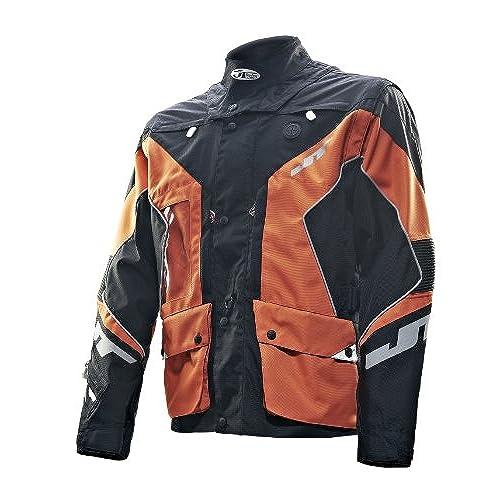 JT Racing USA Dual Dirt Bike Enduro Jacket (Black/Orange, X-Large)
