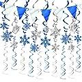 Christmas Snowflake Hangin Swirl Decorations