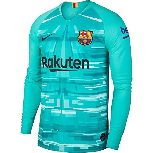 Nike 2019-2020 Barcelona Home Goalkeeper Football Soccer T-Shirt Jersey (Hyper Jade) (Jersey Barcelona Keeper)