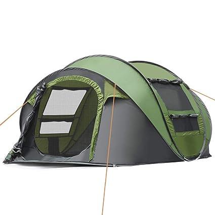 IC ICLOVER C&ing Tents 3-4 Person Pop Up Family Tent [2 Door]  sc 1 st  Amazon.com & Amazon.com : IC ICLOVER Camping Tents 3-4 Person Pop Up Family Tent ...