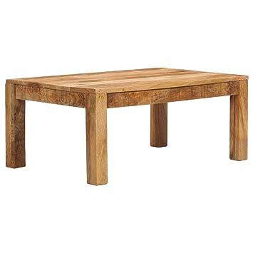 Tavolini Da Salotto Rustici.Vidaxl Legno Massello Di Mango Tavolino Da Caffe Rustico