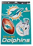 WinCraft Official National Football League Fan Shop Licensed NFL Shop Multi-use Decals (Miami Dolphins)